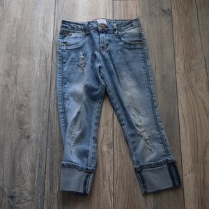 Hudson Little Girls 6x Distressed Cuffed Jeans